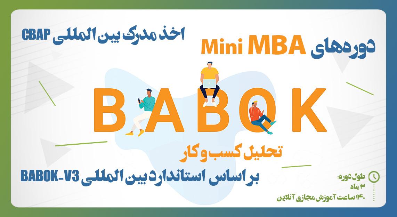 (وبینار) دوره آموزشی Mini-MBA آنلاین  تحلیل کسب و کار بر اساس  استاندارد بین المللی BABOK-V3